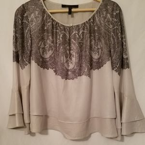 BCBGMaxAzria Top With Flaired Arms Size M